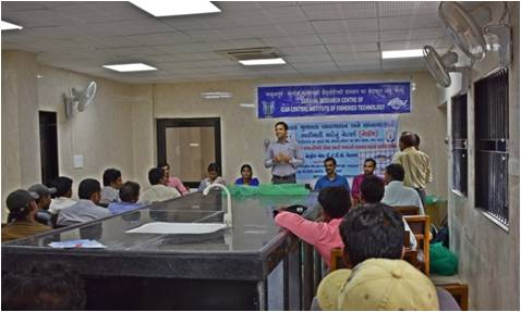 Training cum awareness programme on Fish Farmer's Day at Veraval Research Centre of ICAR-CIFT