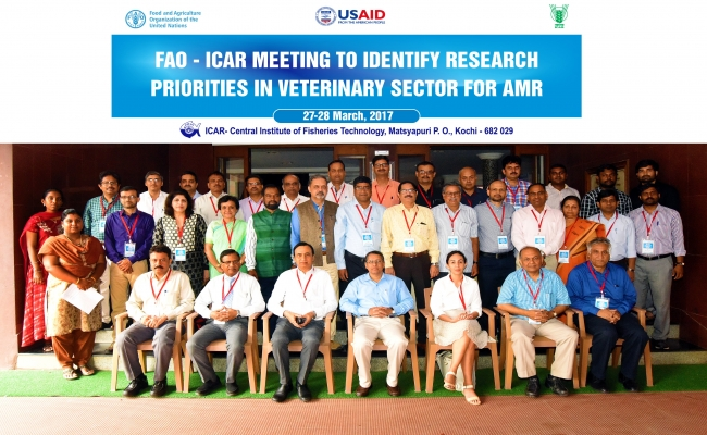 FAO-ICAR meeting on 'Identification of Research Priorities in Veterinary sector for Antimicrobial Resistance' at CIFT